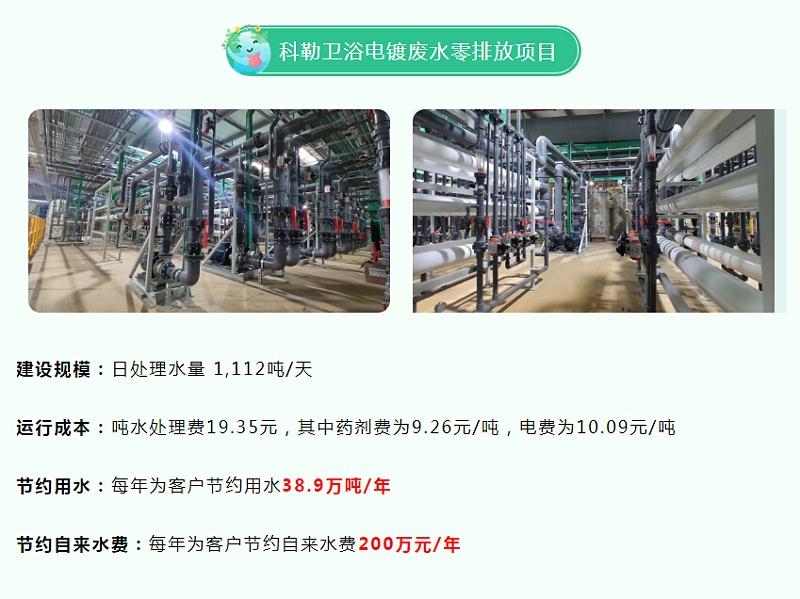 科勒卫浴电镀废水处理零排放工程
